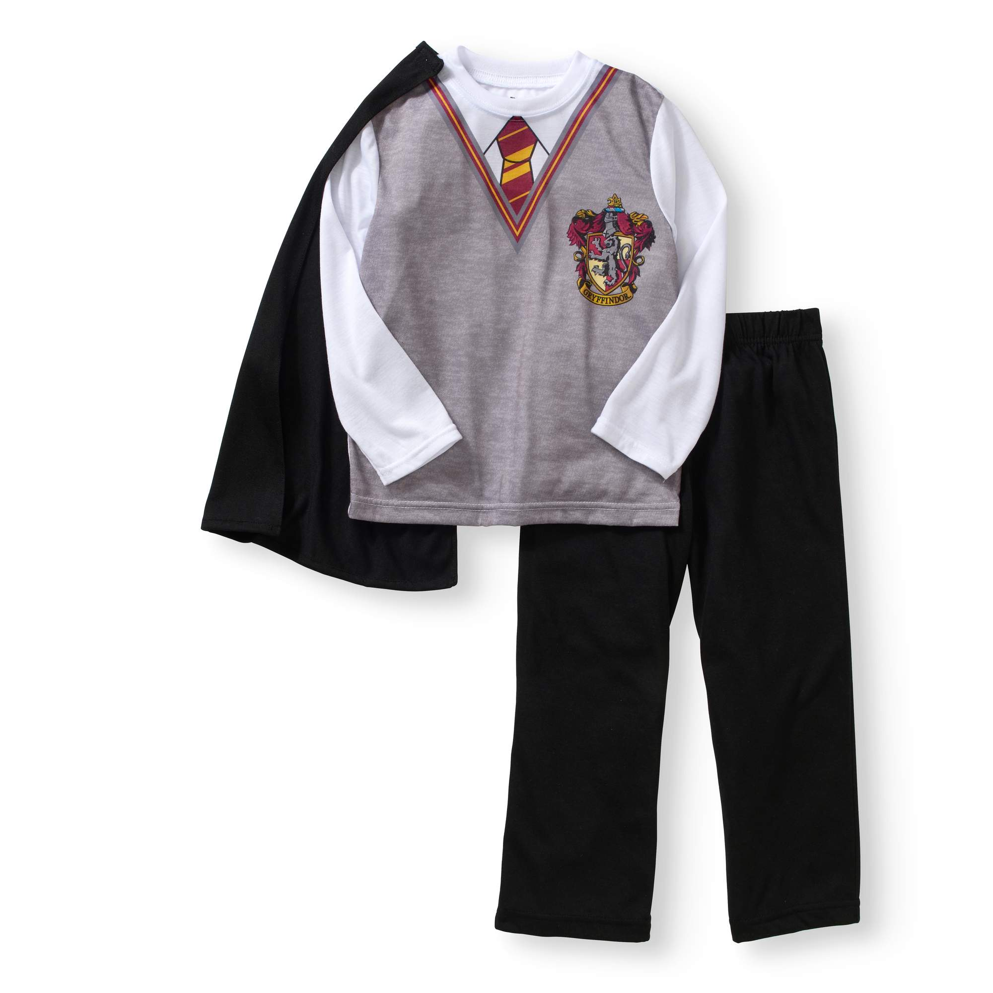 Boys' Harry'S School Uniform Long Sleeve Top And Pant Cape Set