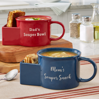 Personalized Dipping Time Soup Bowl - Available in 2 Colors and 2 Fonts