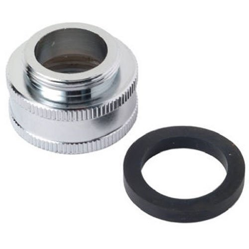Brass Craft Service Parts SF0017X Aerator Adapter, Lead-Free, Chrome-Plated Brass, 55/64 x 27 MT x 3/4-In. FHT
