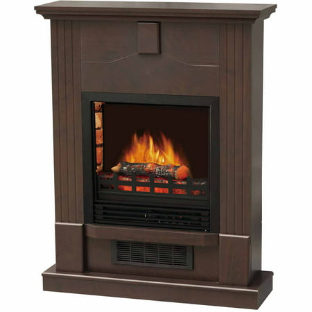 Decor Flame Electric Space Heater Fireplace With 28