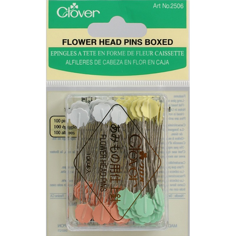 Flower Head Pins, Size 32, 100pk
