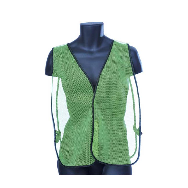 General Purpose Safety Mesh Vest - Green Lot of 1 Pack(s) of 1 Unit