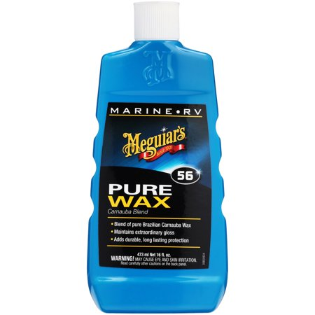 Meguiar's Marine/RV Pure Wax Carnauba Blend – Marine Wax for High-Gloss Protection – M5616, 16 - Pure Vegetable Wax