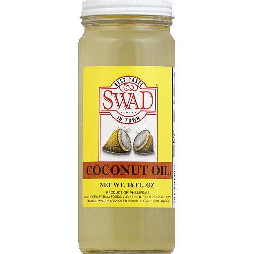 Swad Coconut Oil, 16 fl oz, (Pack of 12)