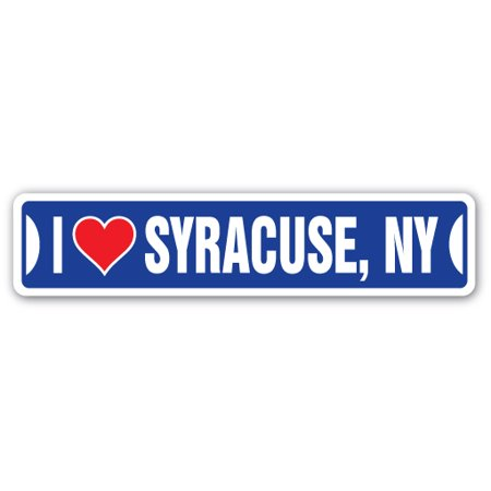 I LOVE SYRACUSE, NEW YORK Street Sign ny city state us wall road décor gift (Party City Ny)