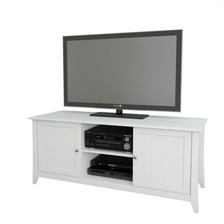 Nexera Vice Versa 3 Piece Entertainment Set in White with Bookcase