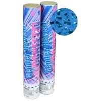 Gender Reveal Confetti Cannons 2 Blue