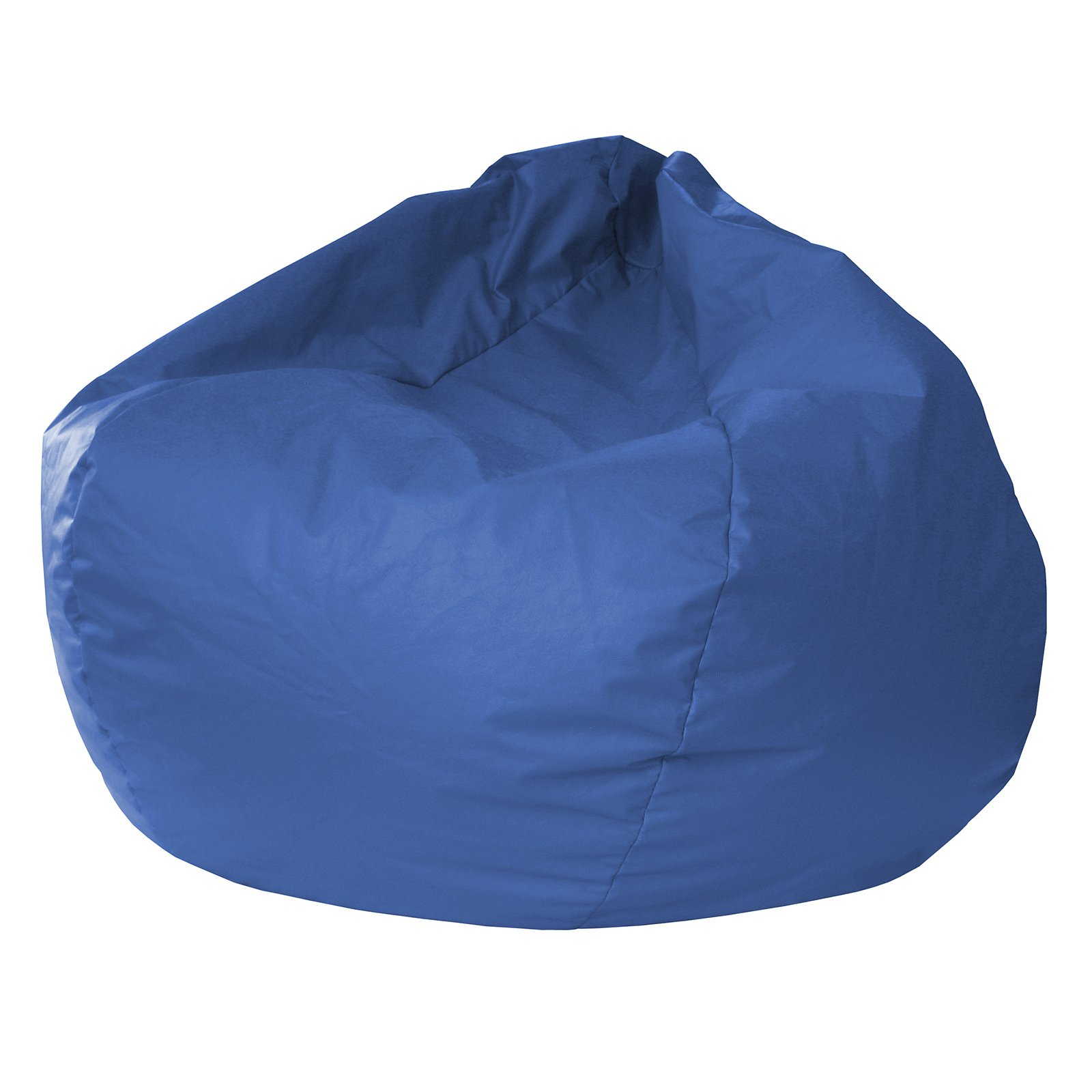 "Extra Small 84"" Blue Faux Leather Bean Bag"