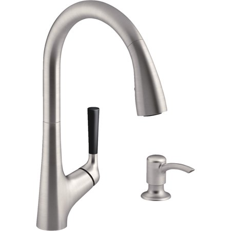 Kohler Malleco Pull Down Kitchen Faucet With Soap Or Lotion Dispenser
