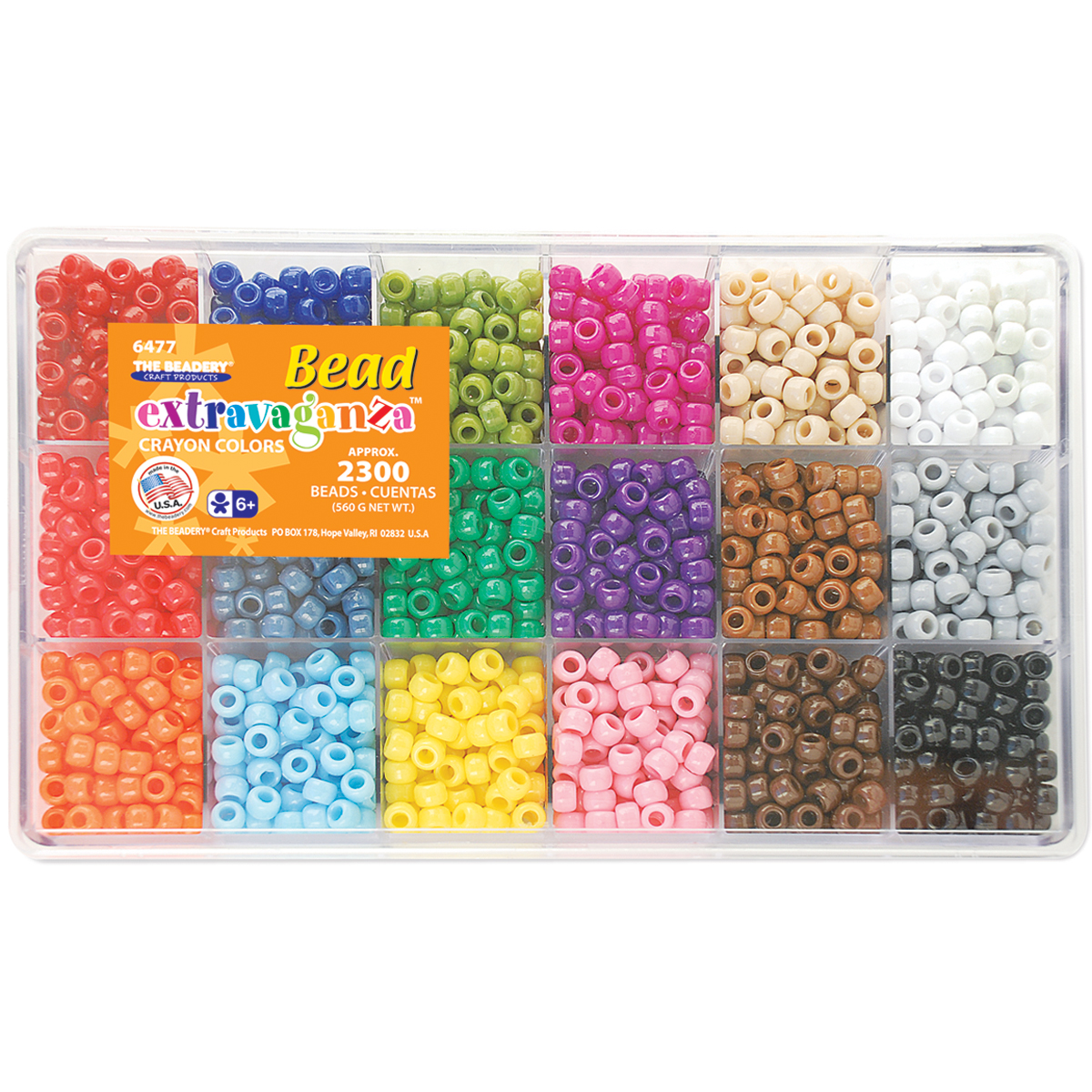 The Beadery Craft Products Crayon Colors Bead Box