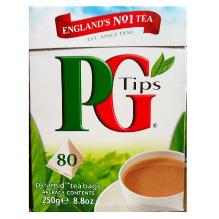 - Pg Tips Pg Tips Tea Bags (Economy Case Pack) 80 Ct Box (Pack of 12)