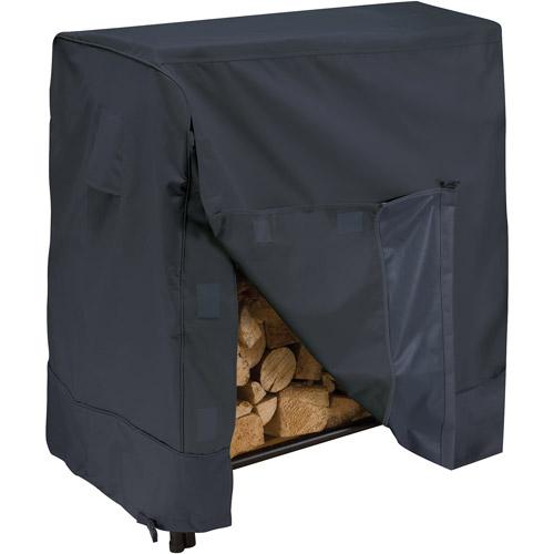 Classic Accessories 4' Firewood Log Rack Storage Cover, Black by Classic Accessories