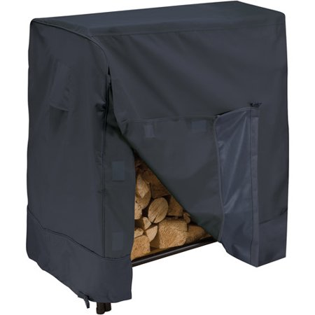 Classic Accessories 4' Firewood Log Rack Storage Cover, Black ()