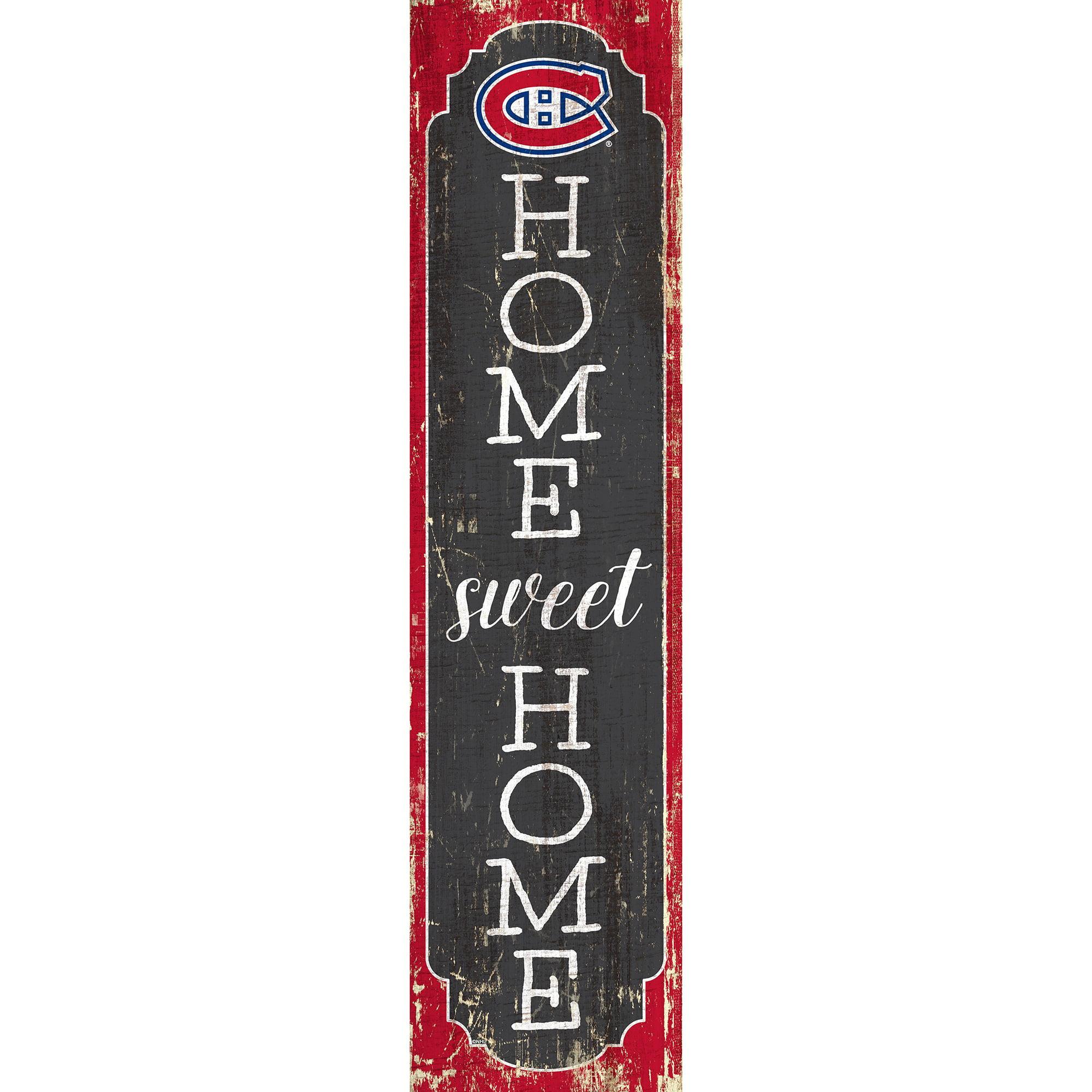 Montreal Canadiens 24 Home Sweet Home Leaner Sign Walmart Com Walmart Com