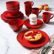 Gibson Home Stanza Red 16-Piece Dinnerware Set