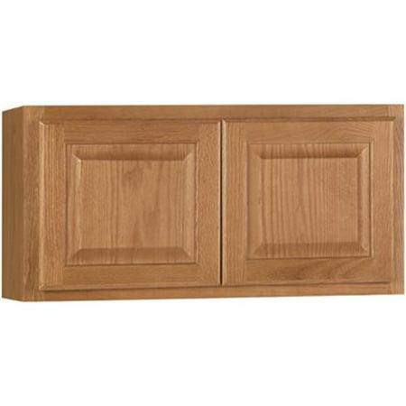 Hampton Bay 2478235 Hampton Assembled 30X15X12 In. Wall Bridge Kitchen Cabinet In Medium Oak (Hampton Bay Kitchen Cabinet)