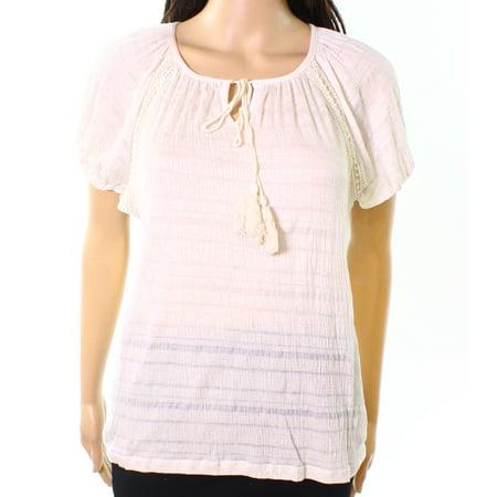 - Leo & Nicole Womens Small Petite Striped Knit Top