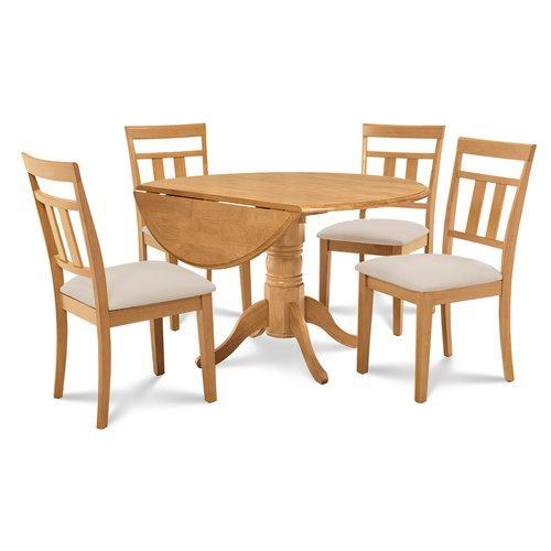 Alcott Hill Chesterton 5 Piece Drop Leaf Solid Wood Dining Set