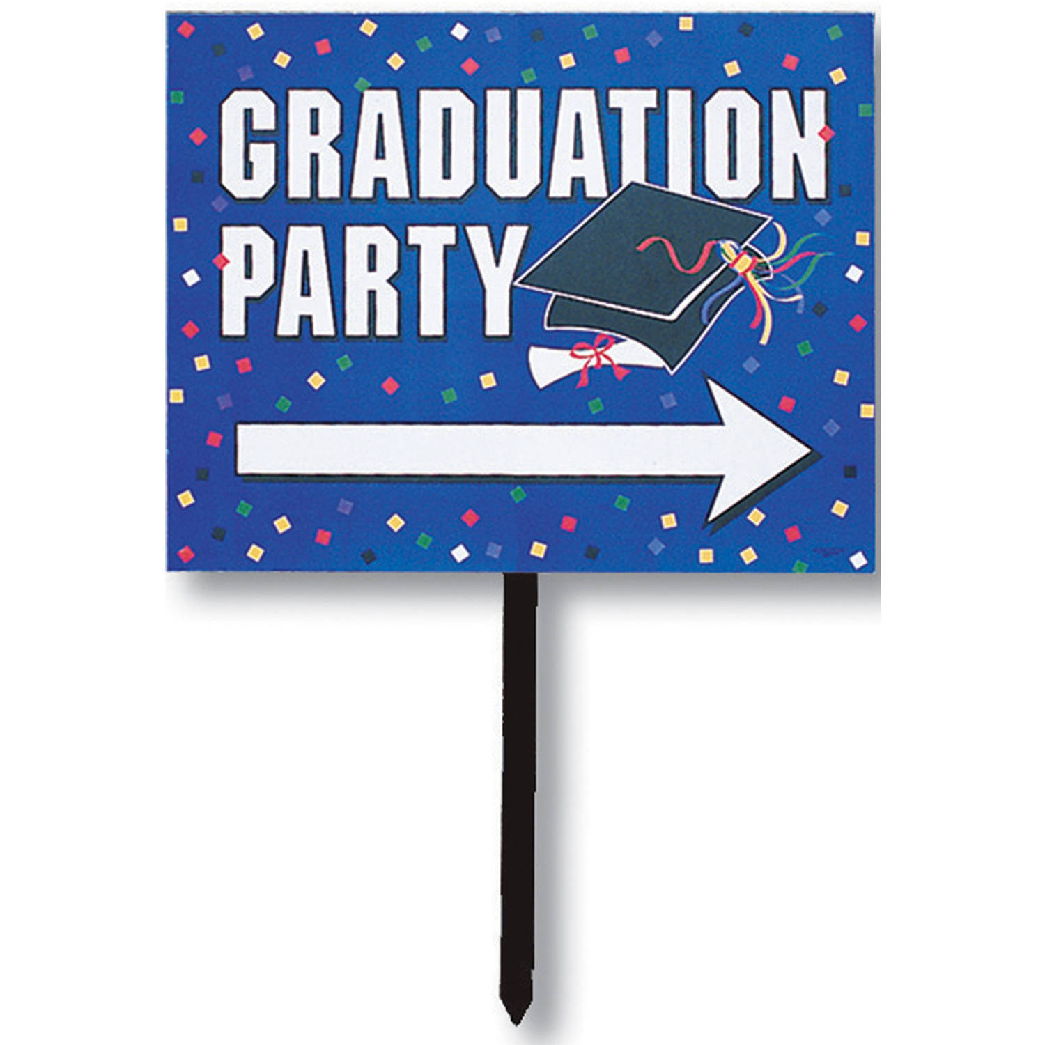 Directional Graduation Party Yard Sign
