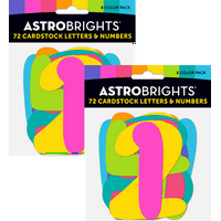 Astrobrights Back to School Letters and Numbers, Cardstock, Combo Pack (2pack)