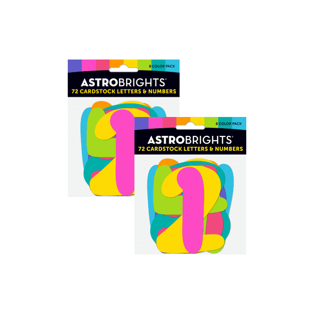 Astrobrights Back To School Letters And Numbers Cardstock Combo Pack 2pack Walmart Com Walmart Com