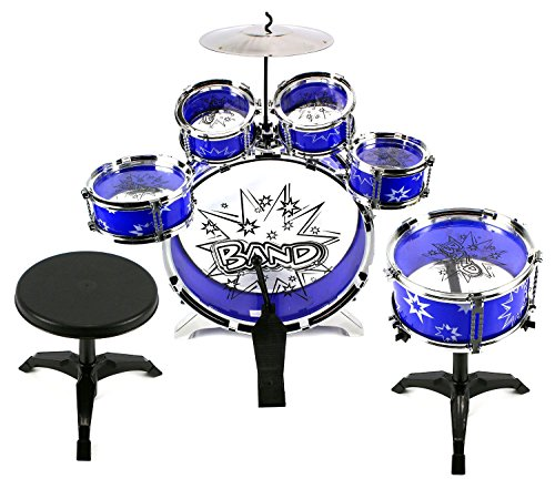 Velocity ToysTM 11 Piece Children's Kid's Toy Drum Set Musical Instrument Playset w  6... by Velocity Toys