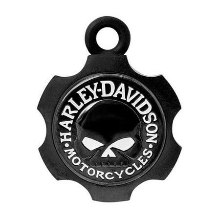 Harley-Davidson Axel Shape Willie G Skull Ride Bell - Black Finish HRB099, Harley Davidson Harley Davidson Skull Accessories