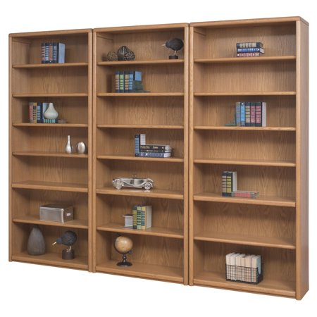 Martin Home Furnishings Contemporary Wall Bookcase   Oak
