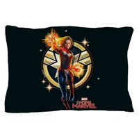 "CafePress - Captain Marvel - Standard Size Pillow Case, 20""x30"" Pillow Cover, Unique Pillow Slip"