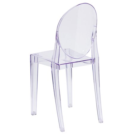 Clean Suede Chair - Flash Furniture Ghost Chair with Oval Back in Transparent Crystal