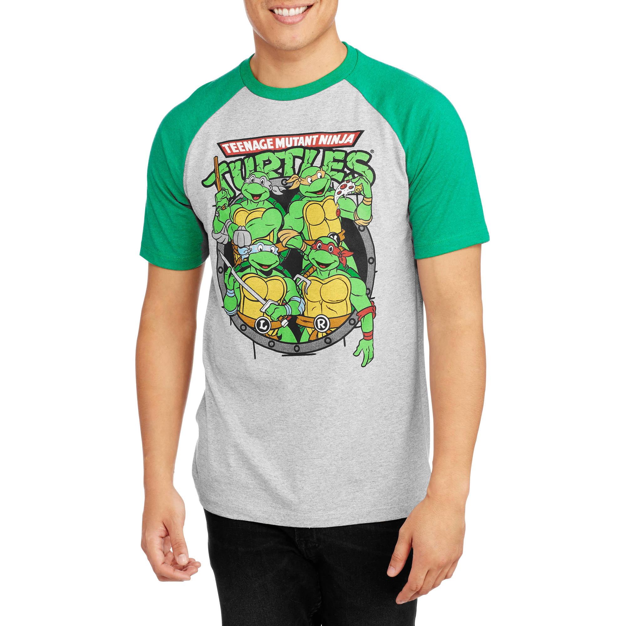 Teenage Mutant Ninja Turtle Men/'s Graphic Short Sleeve Raglan T-Shirt Tee