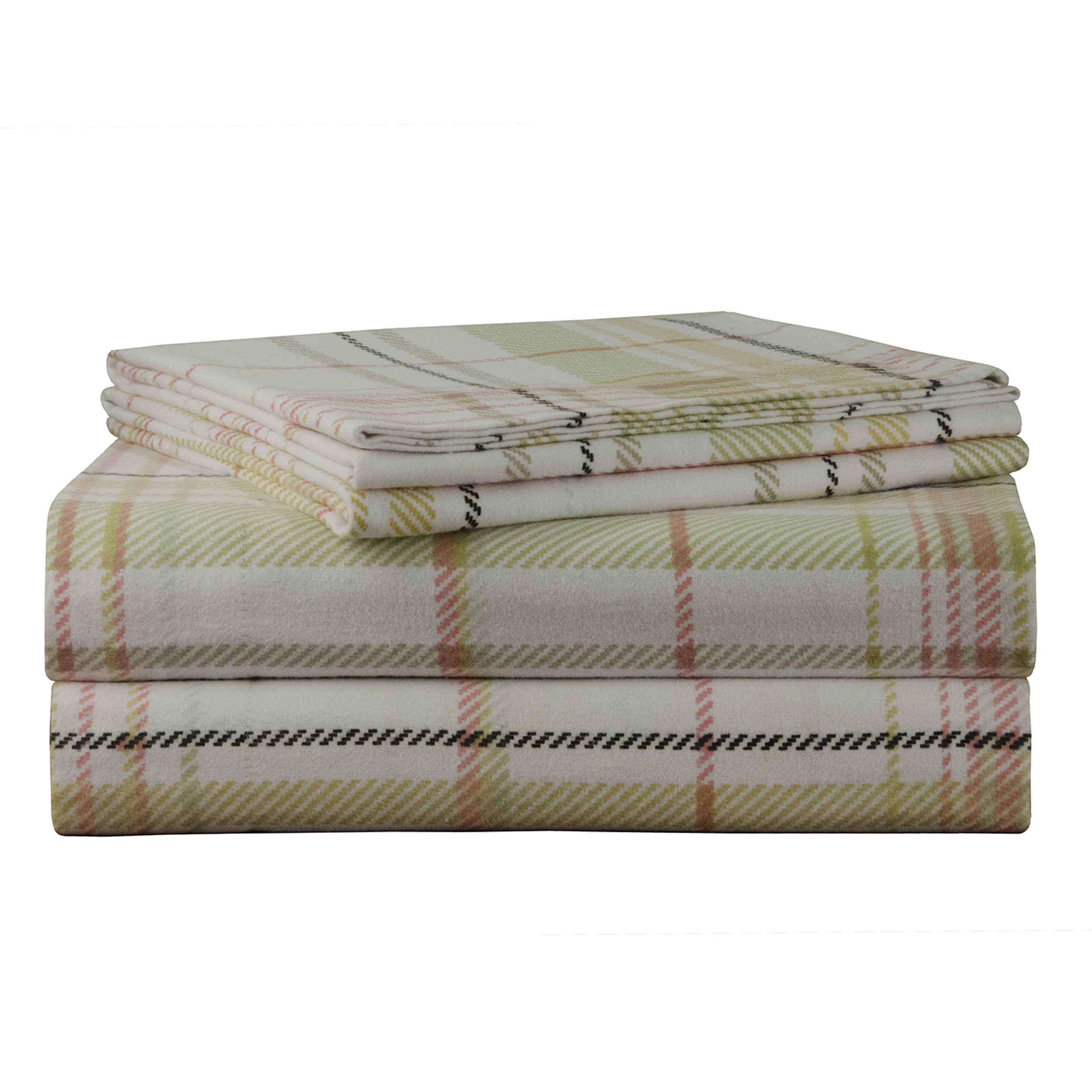 Pointehaven 170 GSM Heavy Weight Printed Deep Pocket Flannel Sheet Set