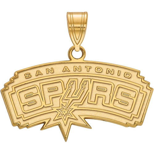 LogoArt NBA San Antonio Spurs 10kt Yellow Gold Medium Pendant