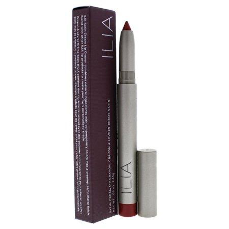 Satin Cream Lip Crayon - Transmission by ILIA Beauty for Women - 0.05 oz (Bite Beauty Matte Creme Lip Crayon Peche)
