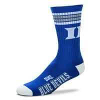 Duke Blue Devils For Bare Feet 4-Stripe Deuce Team Color Performance Crew Socks - Men 10-13