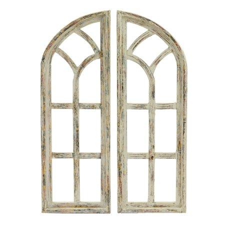 Arrow Frame - Rustic Arrow 2 Piece Window Frame Leaf Wall Accent