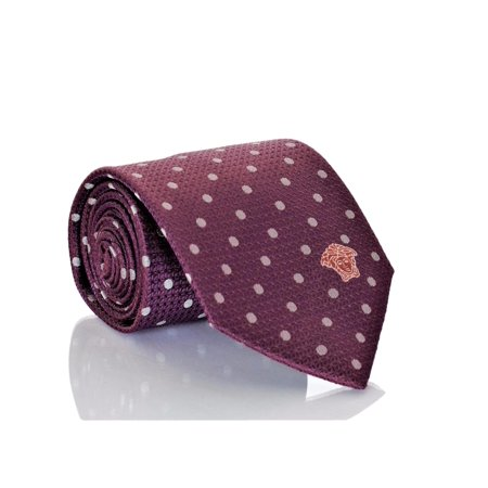 Versace Men's Polka Dot Woven Silk Necktie - Dot Silk Tie