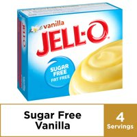 (4 Pack) Jell-O Instant Sugar-Free Fat-Free Vanilla Pudding & Pie Filling, 1 oz Box