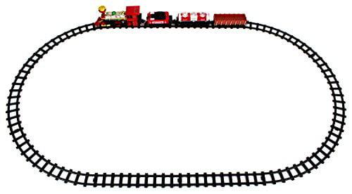 Jupiter Locomotive 14 Piece Battery Operated Toy Train Set w  Realistic Smoke, Sounds, 4... by Velocity Toys