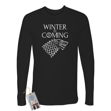 Games of Throne Winter is Coming Shirt Mens Long Sleeve (Game Of Thrones Impin Ain T Easy)