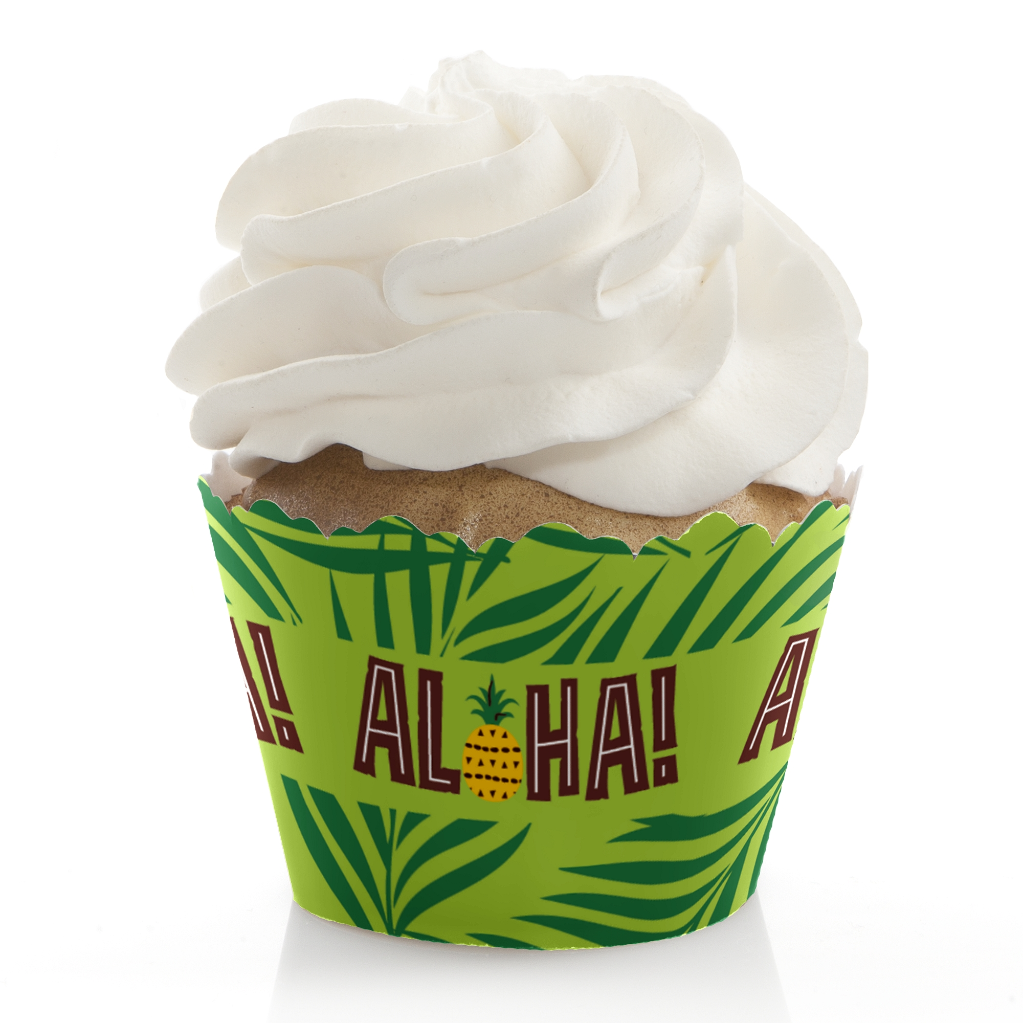 Tiki Luau - Tropical Hawaiian Summer Party Cupcake Wrappers - Set of 12