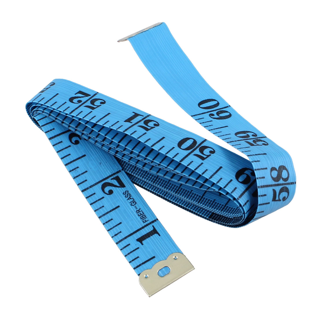 "Unique Bargains 1.5M 60"" Blue Soft Plastic Flexible Ruler Measure Tape for Sewing Tailor"
