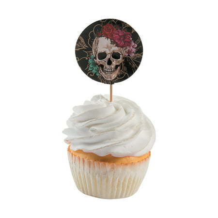 Fun Express - Spooky Floral Cupcake Picks (25pc) for Halloween - Party Supplies - Serveware & Barware - Picks & Stirrers & Parasols - Halloween - 25 Pieces](Halloween Express Chattanooga)