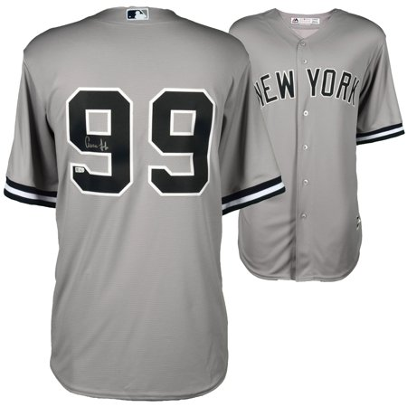 60aeeaf64 Aaron Judge New York Yankees Fanatics Authentic Autographed Majestic Gray Replica  Jersey - No Size - Walmart.com