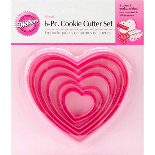 Wilton Nesting Plastic Cookie Cutter Set, Hearts 6 ct. 2304-115