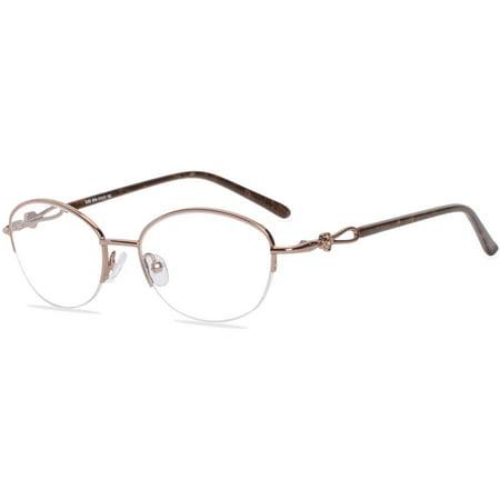 Visage Womens Prescription Glasses, E205 Brown - Walmart.com