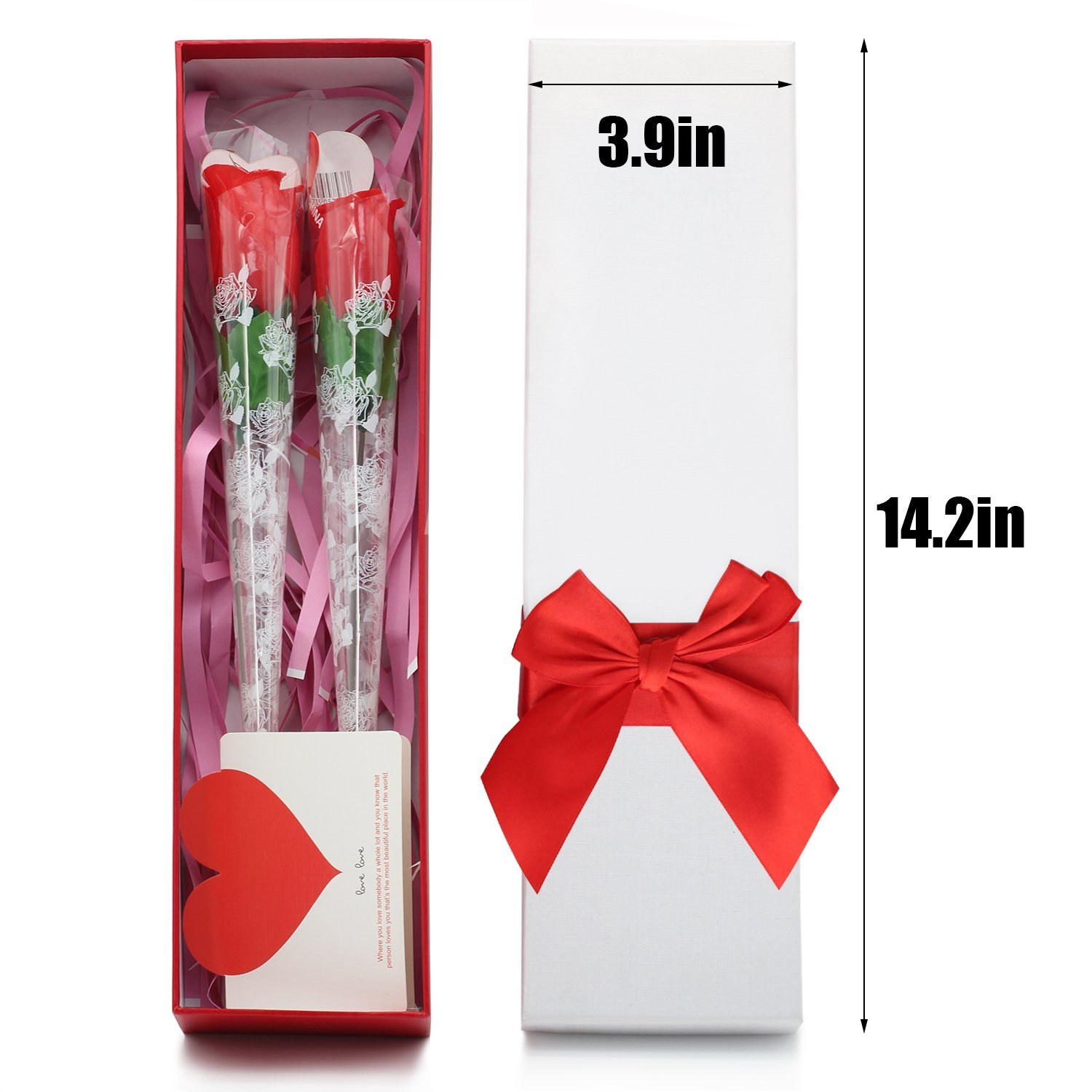 2 Pcs Creative Red Rose Shape Thong Sexy Undewear Women's Sexy Panties G-String with Gift Box Ideal Valentine's Day&Birthday Gift for Her-Random Style