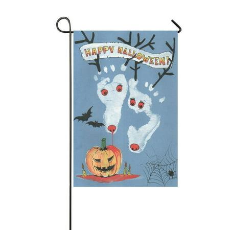 Halloween Web Banners (MYPOP Happy Halloween Deer Spider Web Garden Flag Banner 12 x 18)