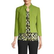 Stand-Collar Crop Blazer