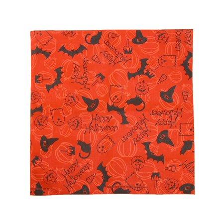 Happy Halloween Orange (Size one size Happy Halloween Bandana,)